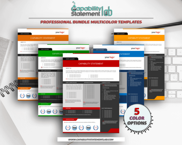 Multicolor Multipurpose Capability Statement Templates