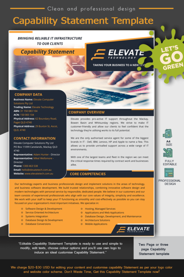 IT Services_ Capability Statement_Yellow