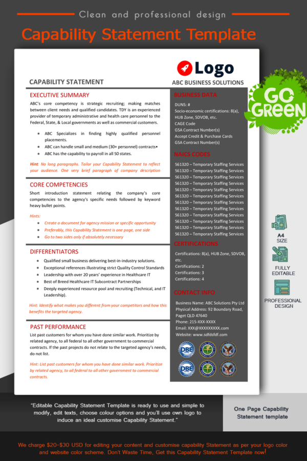 Capability Statement Template_ Red