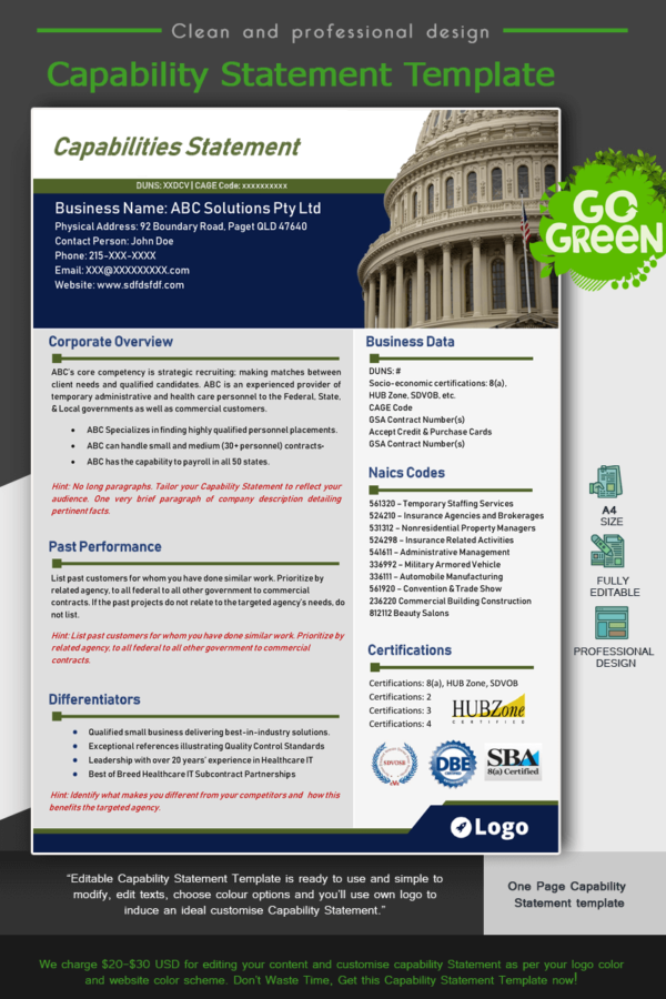 Capitol Hill Capability Statement_Green