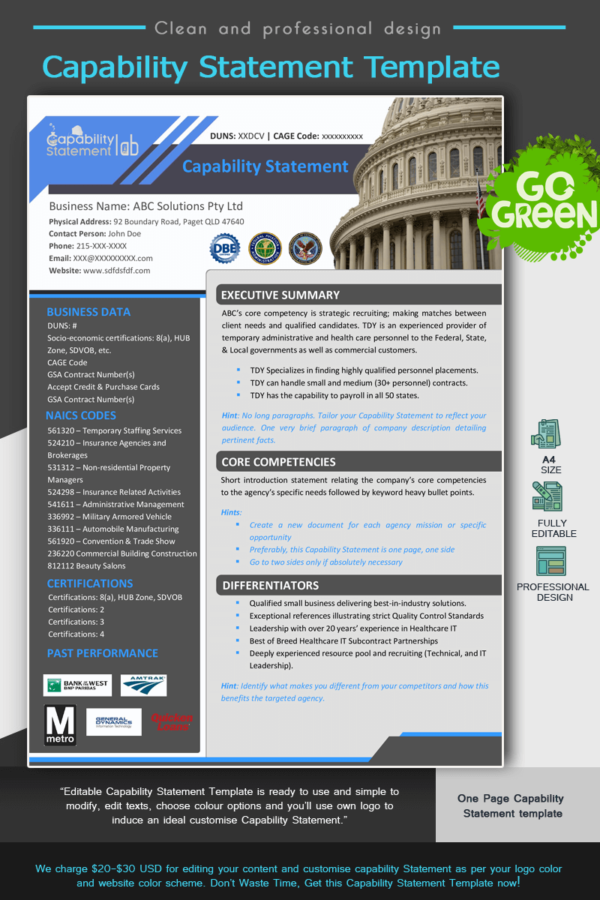 Effective Capability Statement Template_Blue