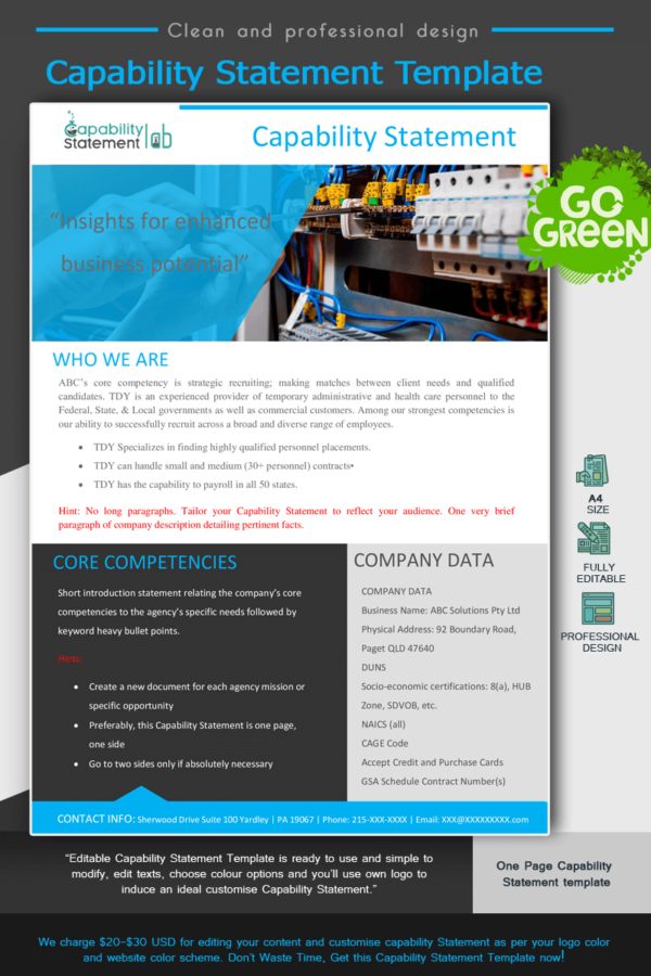 Electrical Capability Statement Template_Blue