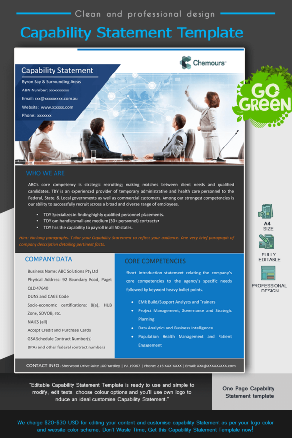 Human Resources Capability Statement_Blue
