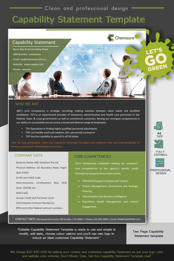 Human Resources Capability Statement_Green