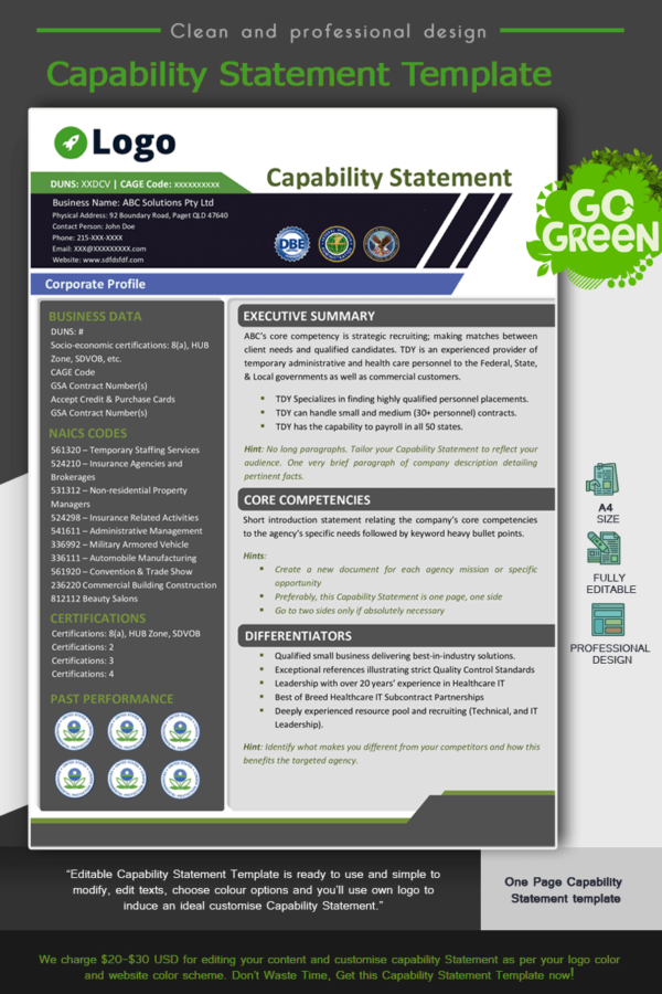 Professional Capability Statement Template_Green