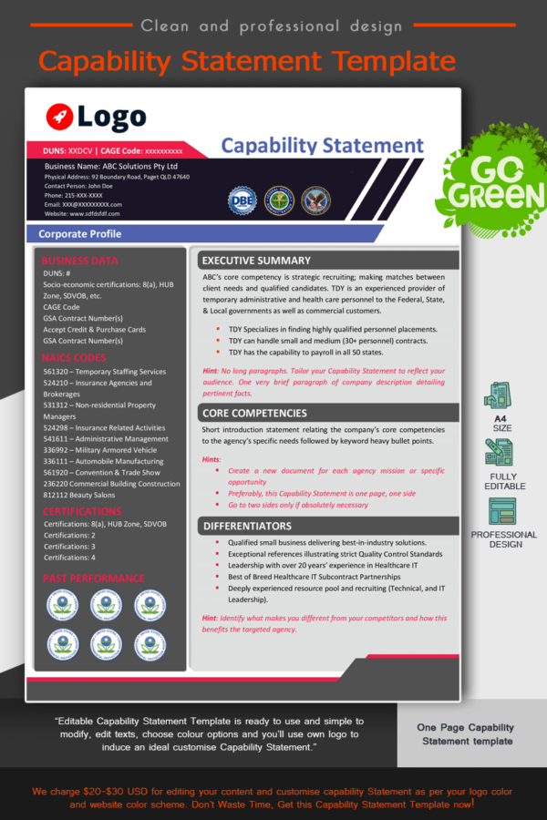 Professional Capability Statement Template_Red