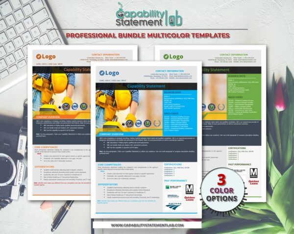 Construction Capability Statement Template 002
