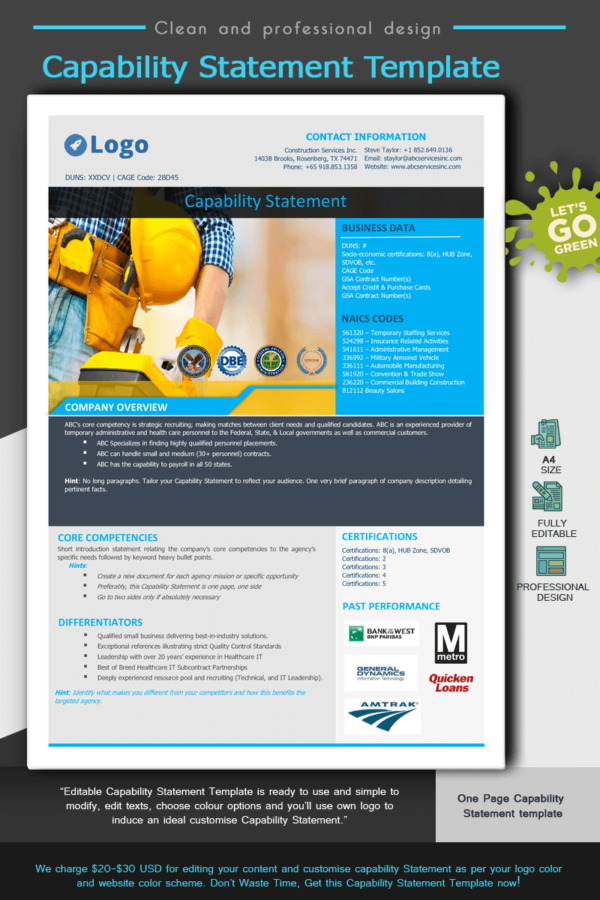 Construction Capability Statement Template 002_Blue