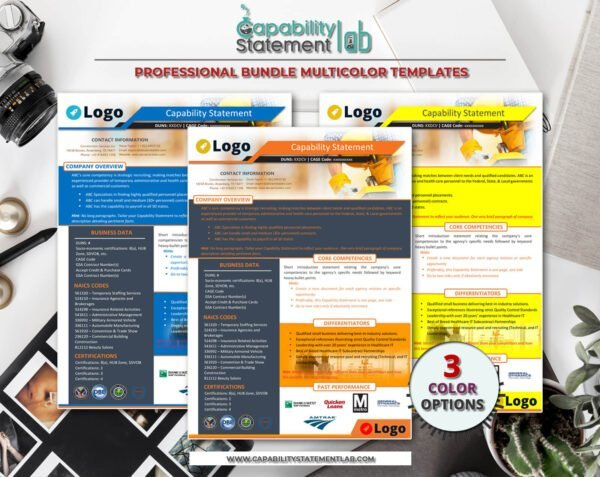 Construction Capability Statement Template