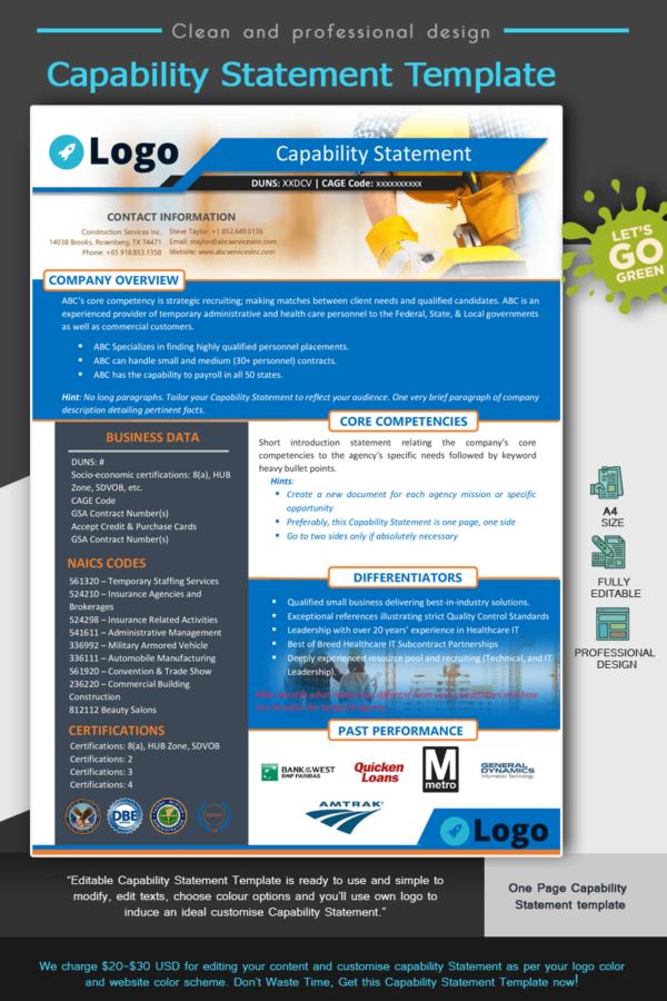Construction Capability Statement Template_Blue