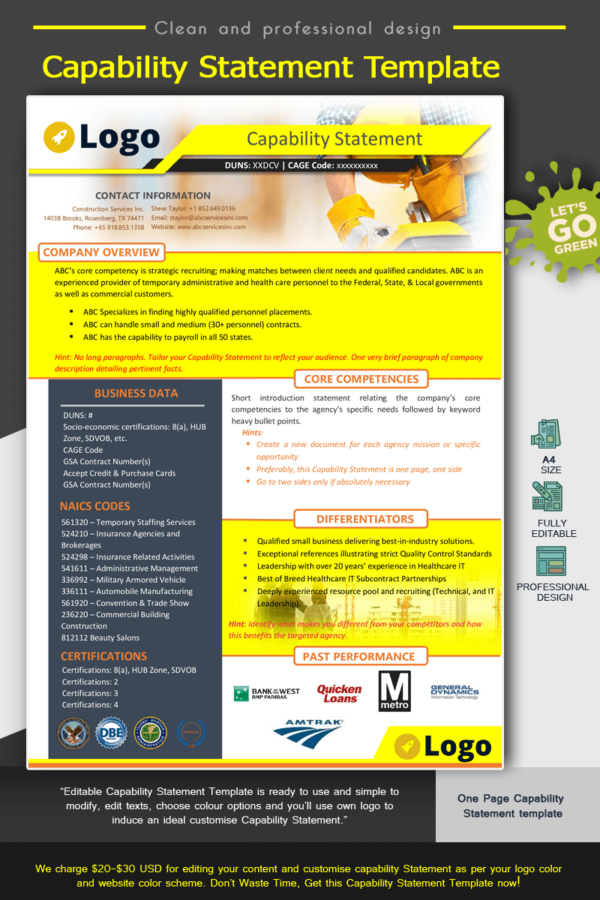 Construction Capability Statement Template__Yellow