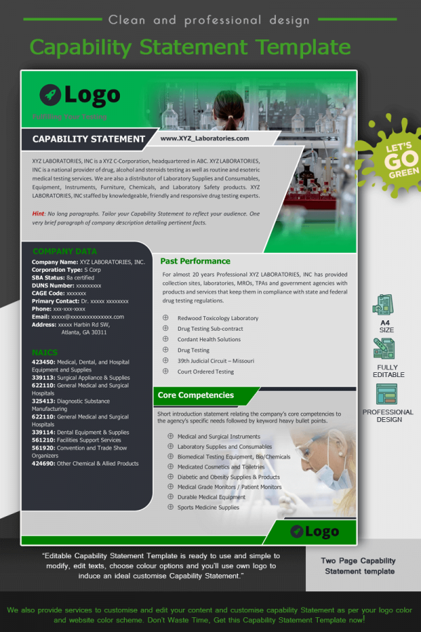 Laboratories Capability Statement Template_Green