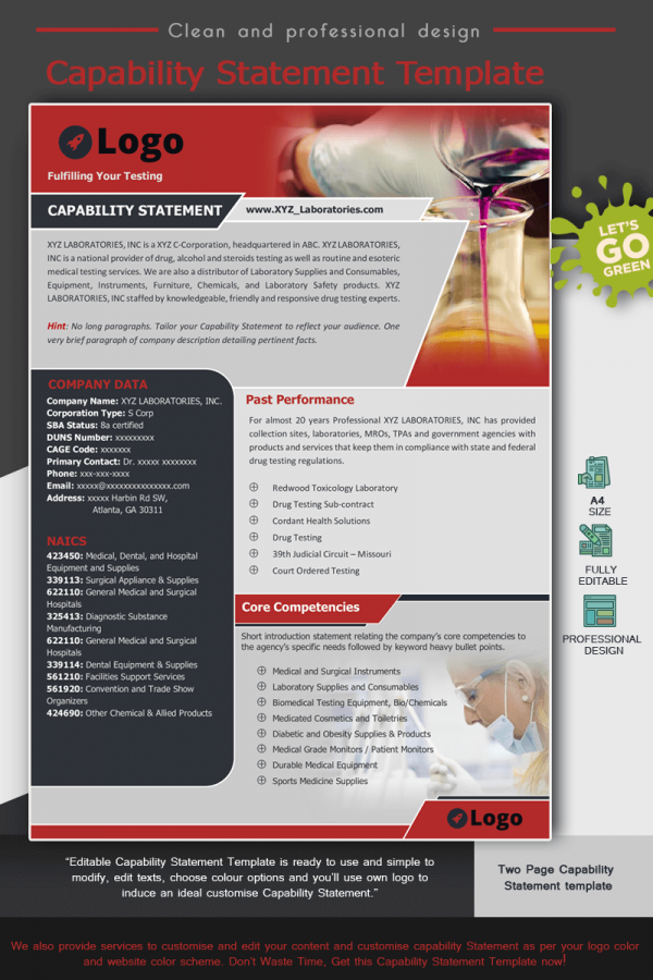 Laboratories Capability Statement Template_Red